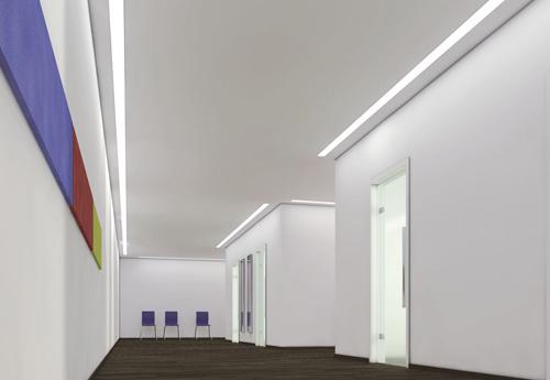 Neptune LED éclairage encastre plafond pour couloir lineaire